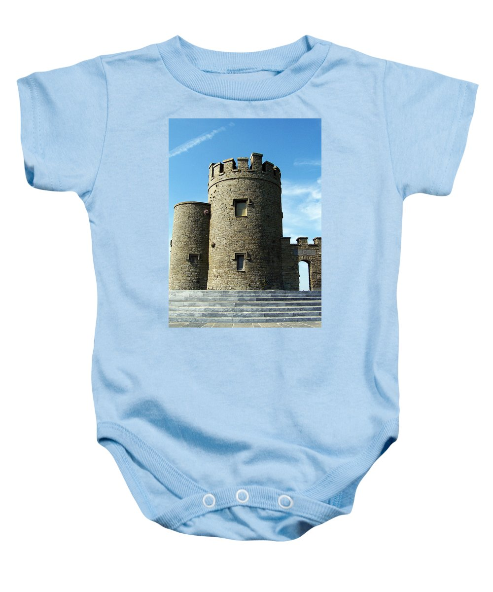 Irish Baby Onesie featuring the photograph O Brien's Tower Cliffs Of Moher Ireland by Teresa Mucha
