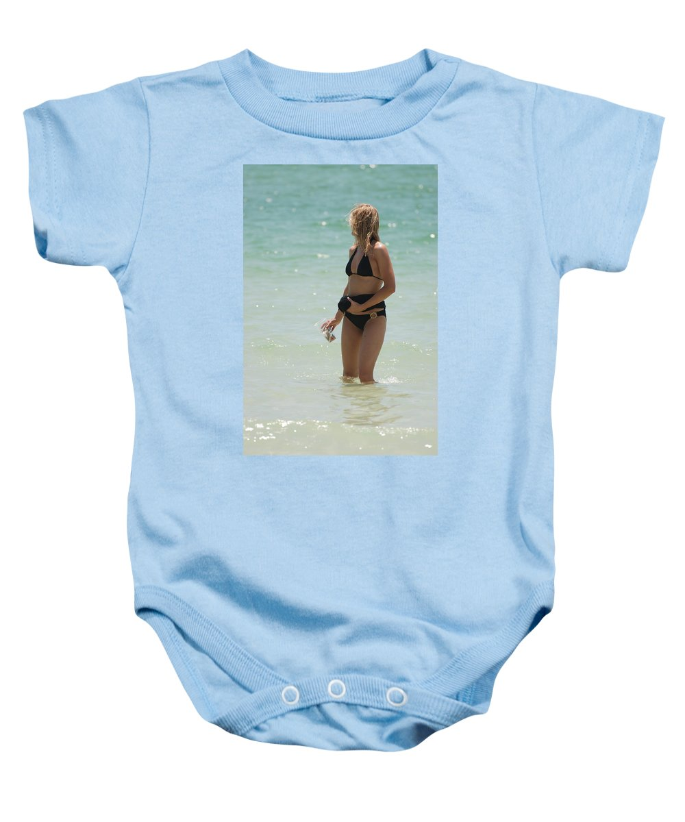 Nautical Baby Onesie featuring the photograph Ocean Lady by Rob Hans