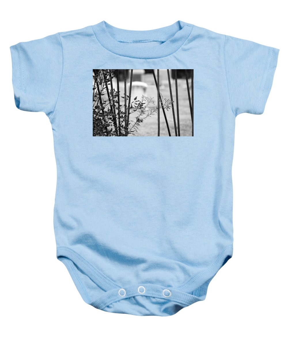 Columbia County Baby Onesie featuring the photograph Odd Fellows Graveyard by Tracy Winter