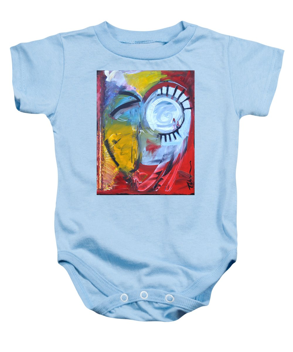 Jim Dine Baby Onesie featuring the painting Ode To Jim Dine by Tim Nyberg