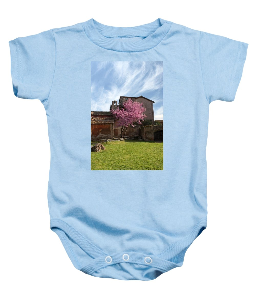 Rome Baby Onesie featuring the photograph Old Church by Munir Alawi