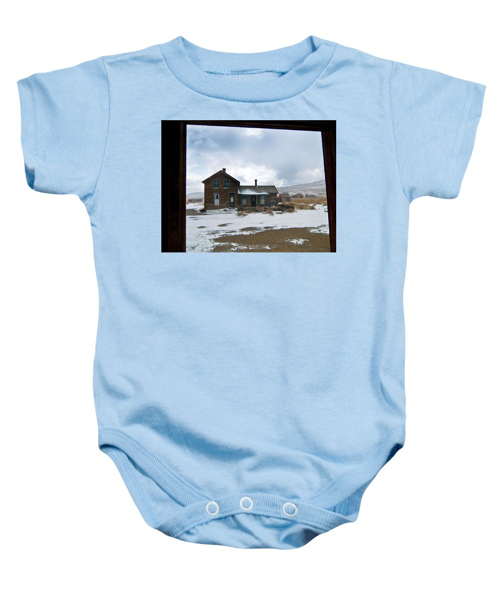 California Baby Onesie featuring the photograph Old House by Norman Andrus