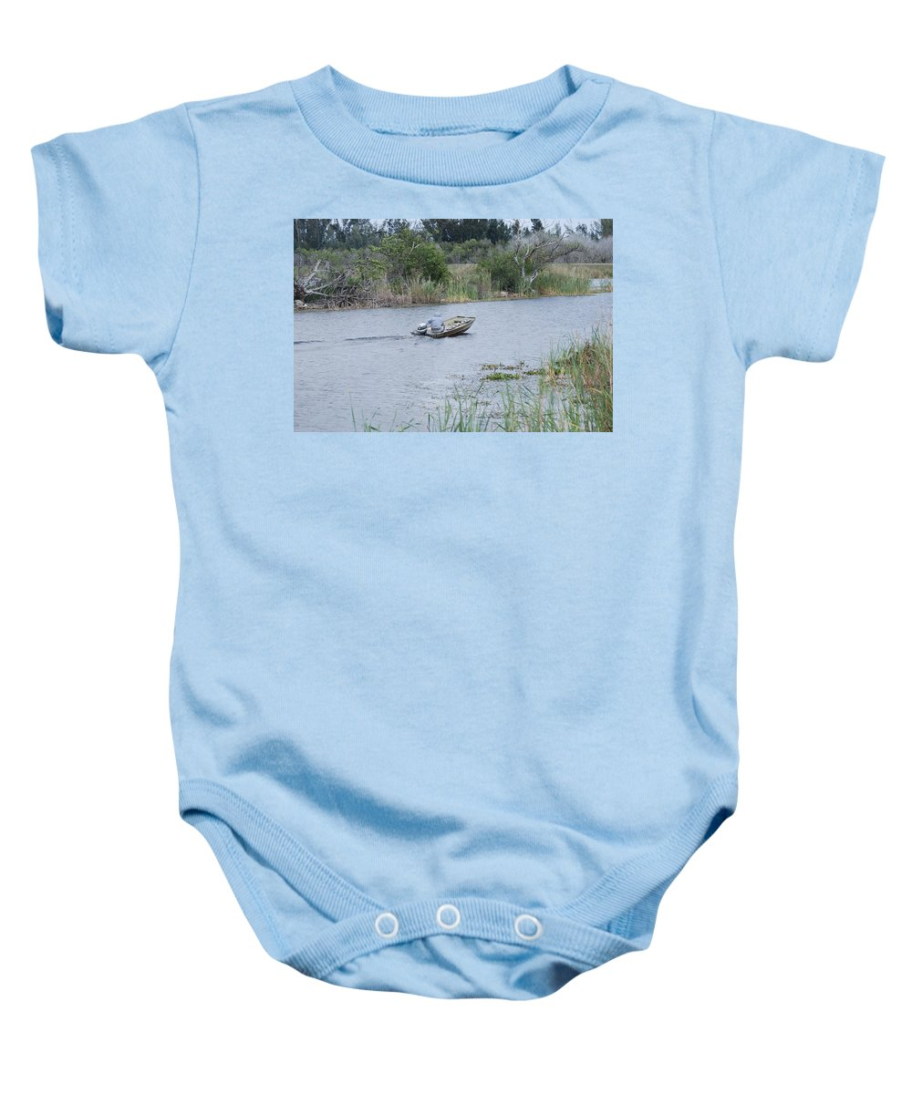River Baby Onesie featuring the photograph Old Man River by Rob Hans