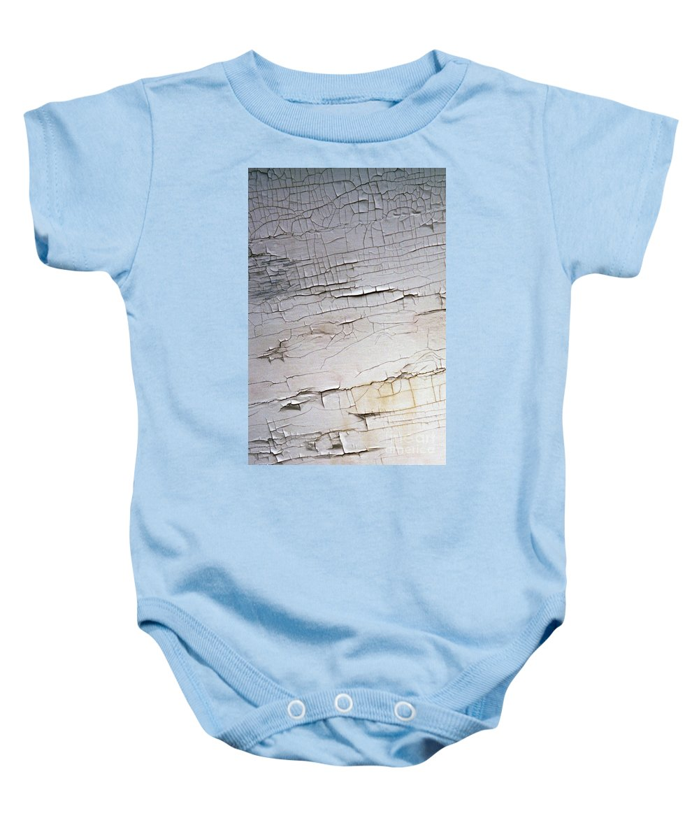 Paint Baby Onesie featuring the photograph Old Siding by Richard Rizzo