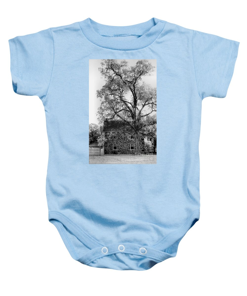 Homes Baby Onesie featuring the photograph Old Stone House by Richard Rizzo