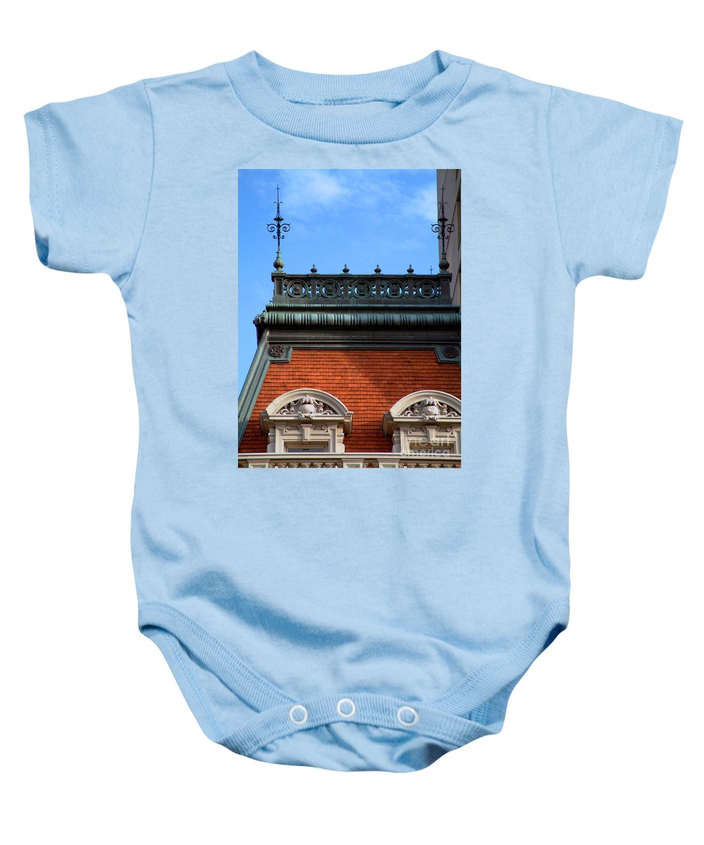 Apartment Baby Onesie featuring the photograph On A Clear Day by RC DeWinter