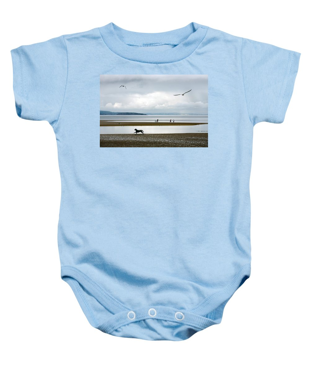 Beach Baby Onesie featuring the photograph On The Beach by Mal Bray