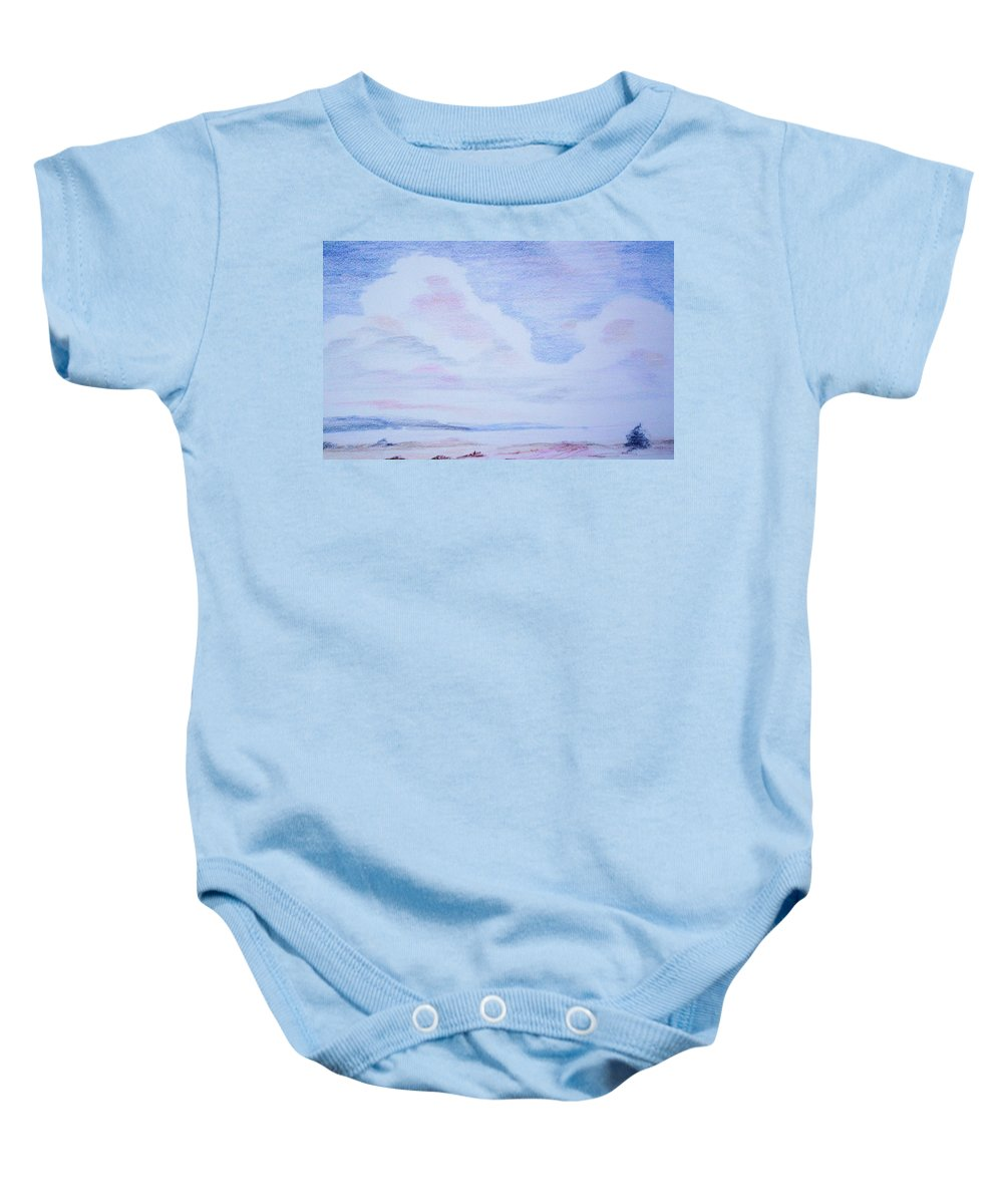 Landscape Painting Baby Onesie featuring the painting On The Way by Suzanne Udell Levinger
