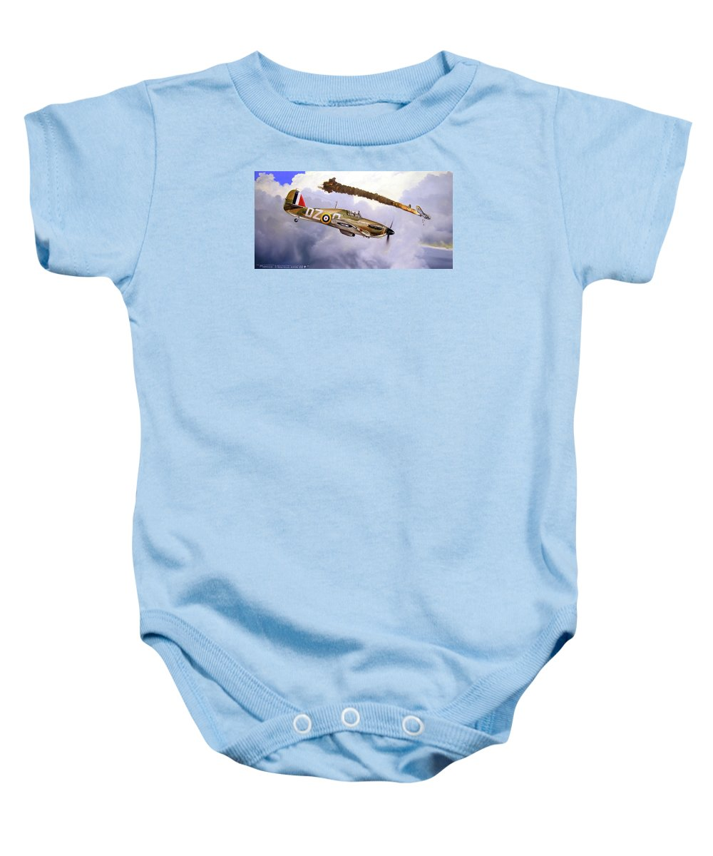 Aviation Art Baby Onesie featuring the painting One Of The Few by Marc Stewart