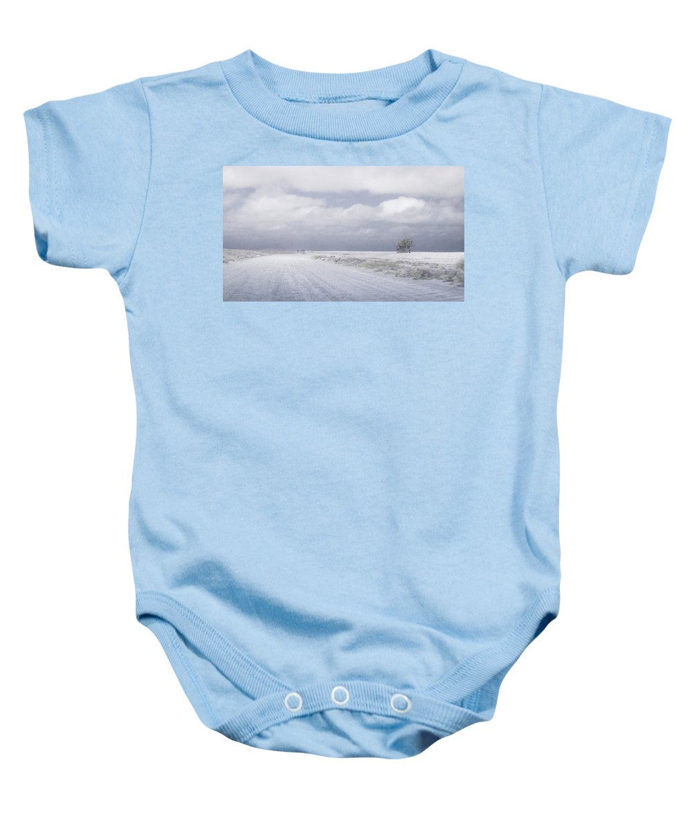 Art Baby Onesie featuring the photograph One by Silvia Bruno