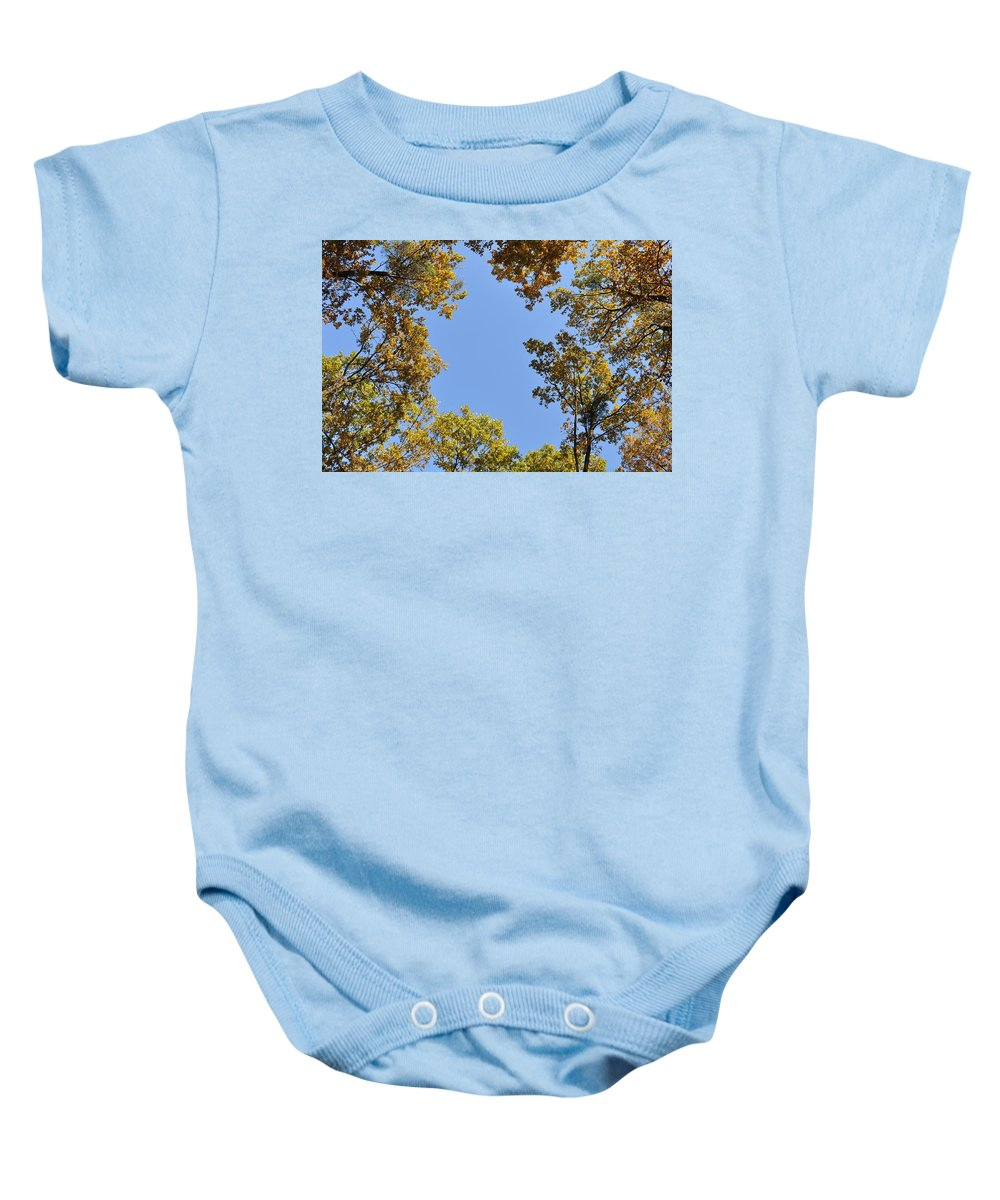 Oaks Baby Onesie featuring the photograph Opening by Georgeta Blanaru