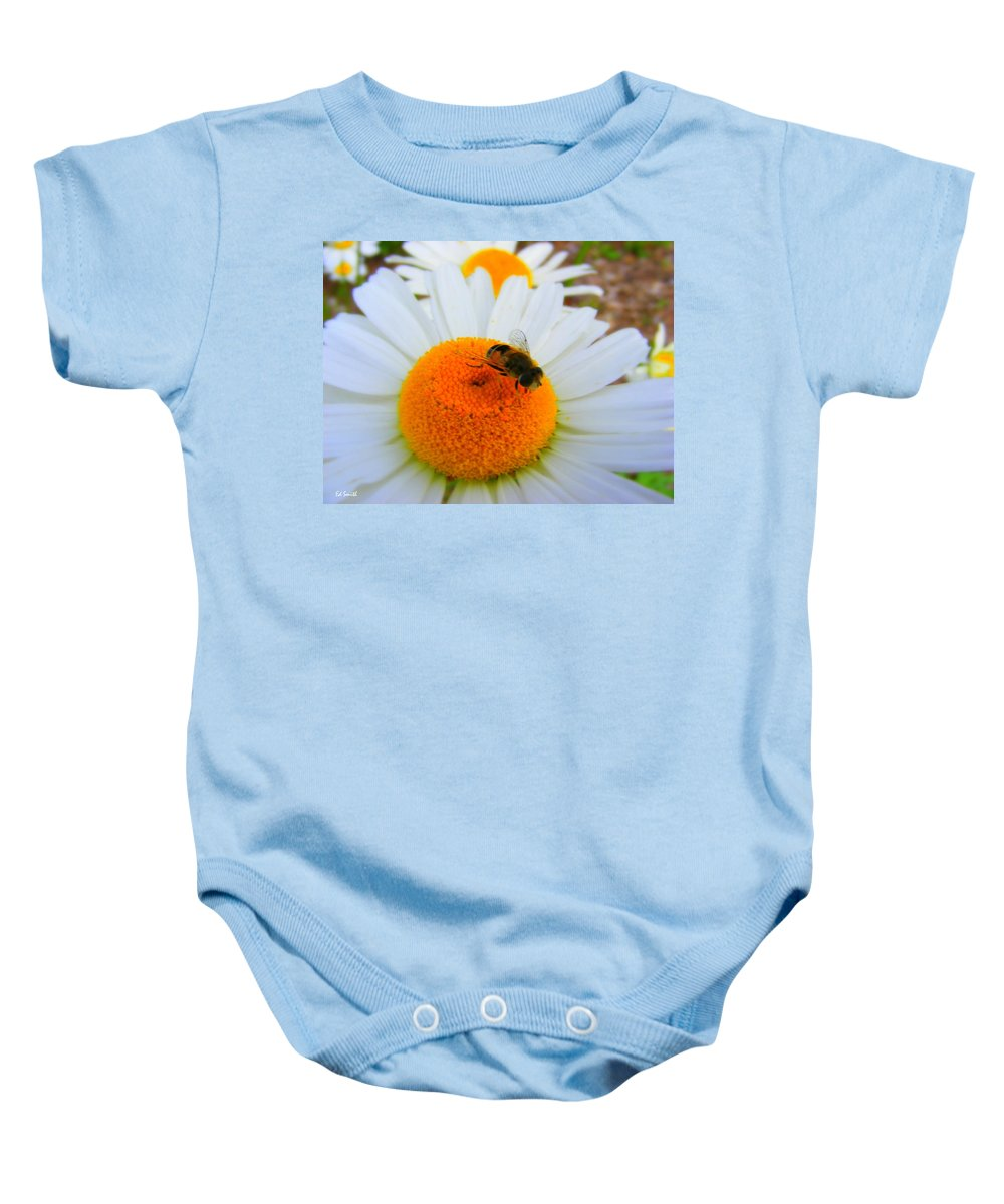 Orange Aid Baby Onesie featuring the photograph Orange Aid by Ed Smith