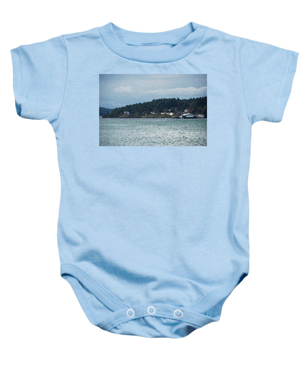 Orcas Baby Onesie featuring the photograph Orcas Island View by Carol Eliassen