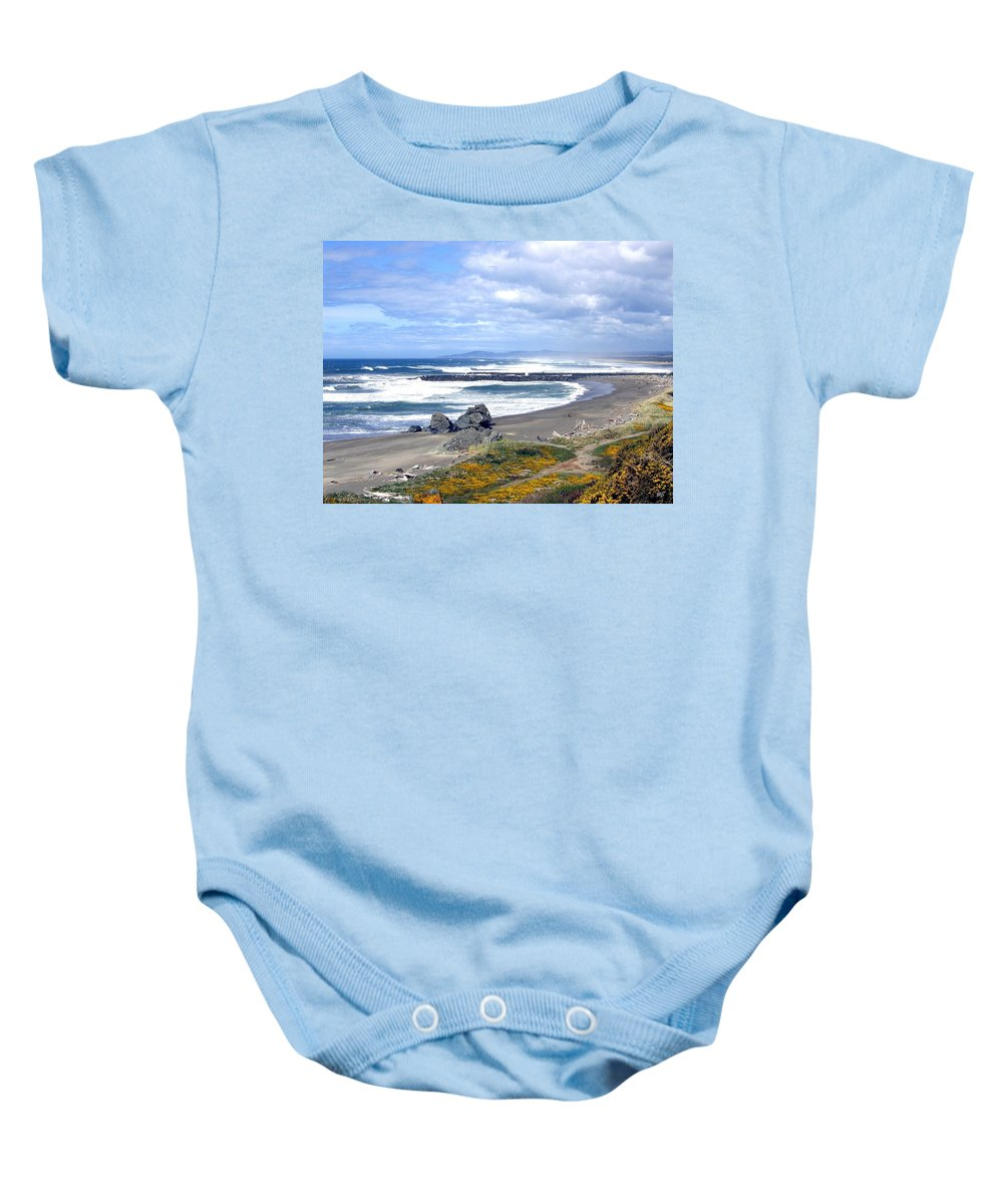 Bandon Baby Onesie featuring the photograph Oregon Coast by Will Borden