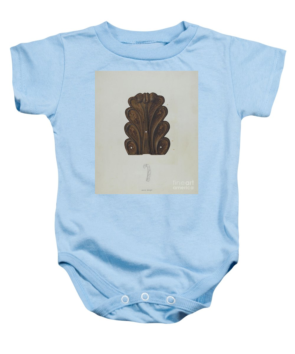 Baby Onesie featuring the drawing Ornament by Erwin Stenzel
