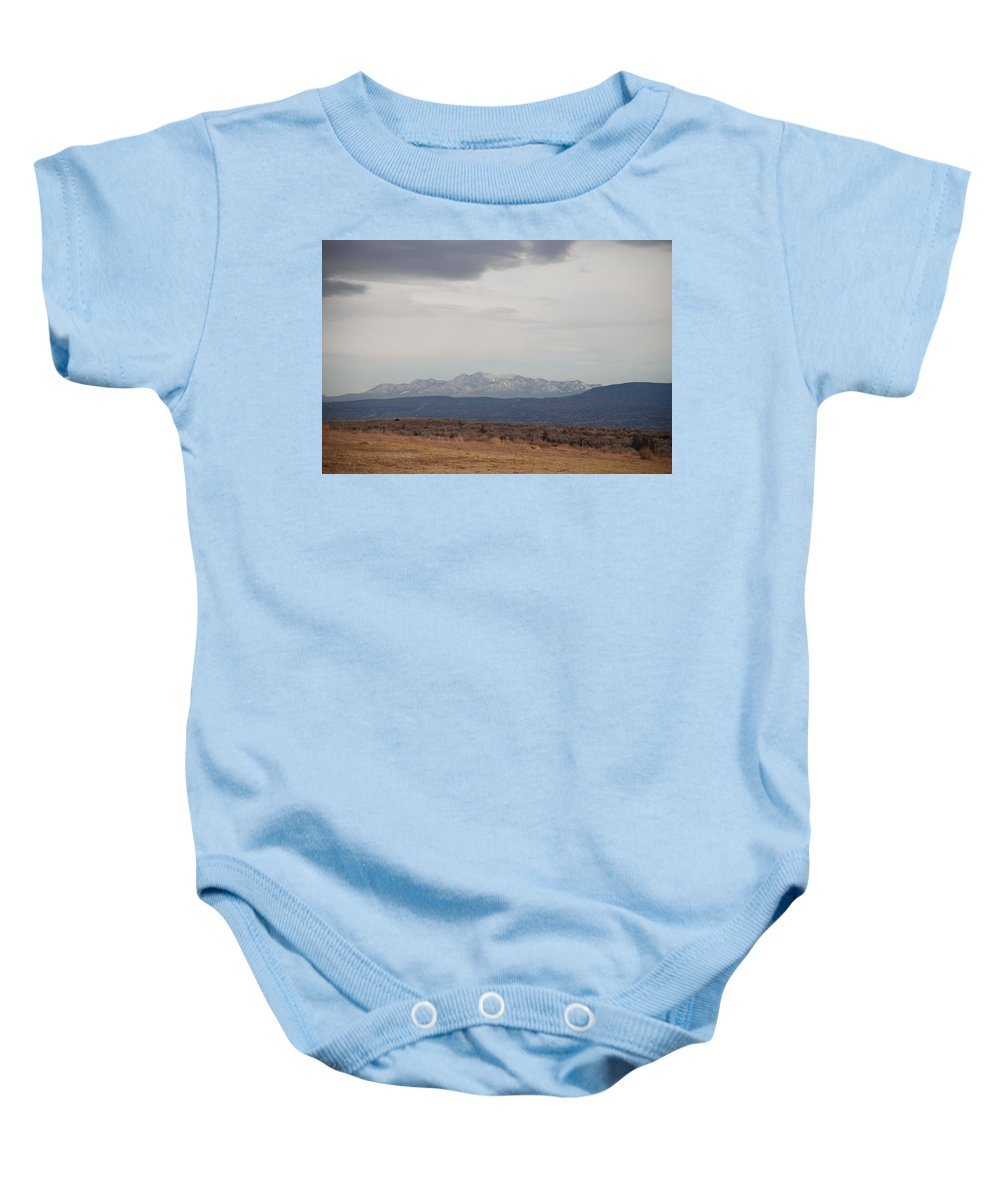 Mountains Baby Onesie featuring the photograph Overcast On The Sandias by Rob Hans