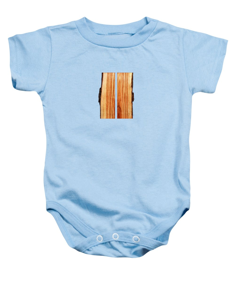 Block Baby Onesie featuring the photograph Parallel Wood by YoPedro