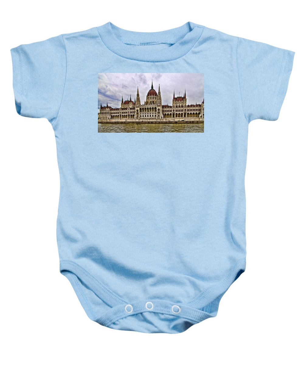 Parliment Building Baby Onesie featuring the photograph Parliment - Budapest by Jon Berghoff