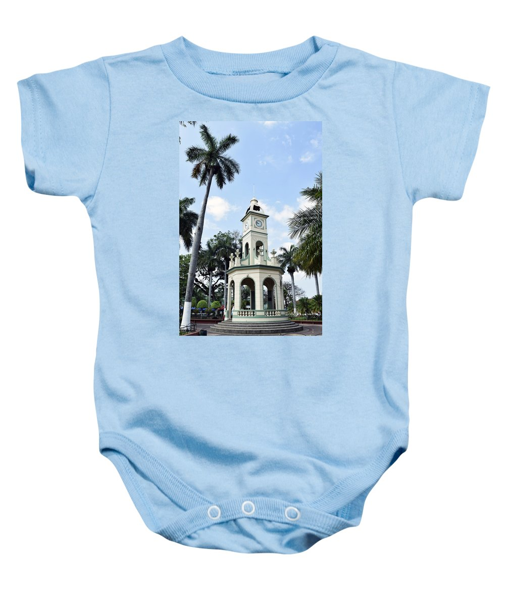 Ahuachapan Baby Onesie featuring the photograph Parque Central Ahuachapan El Salvador by Totto Ponce