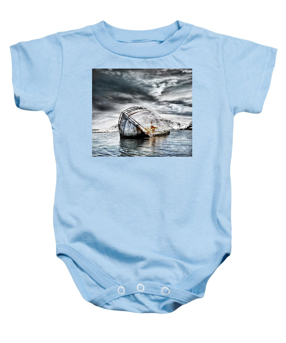 Photodream Baby Onesie featuring the photograph Past Glory by Jacky Gerritsen