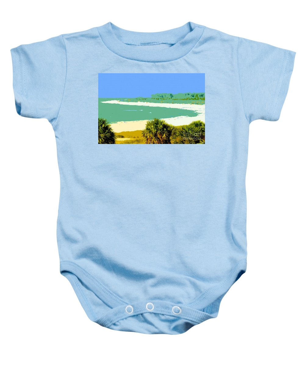 Art Baby Onesie featuring the painting Pastel Beach by David Lee Thompson