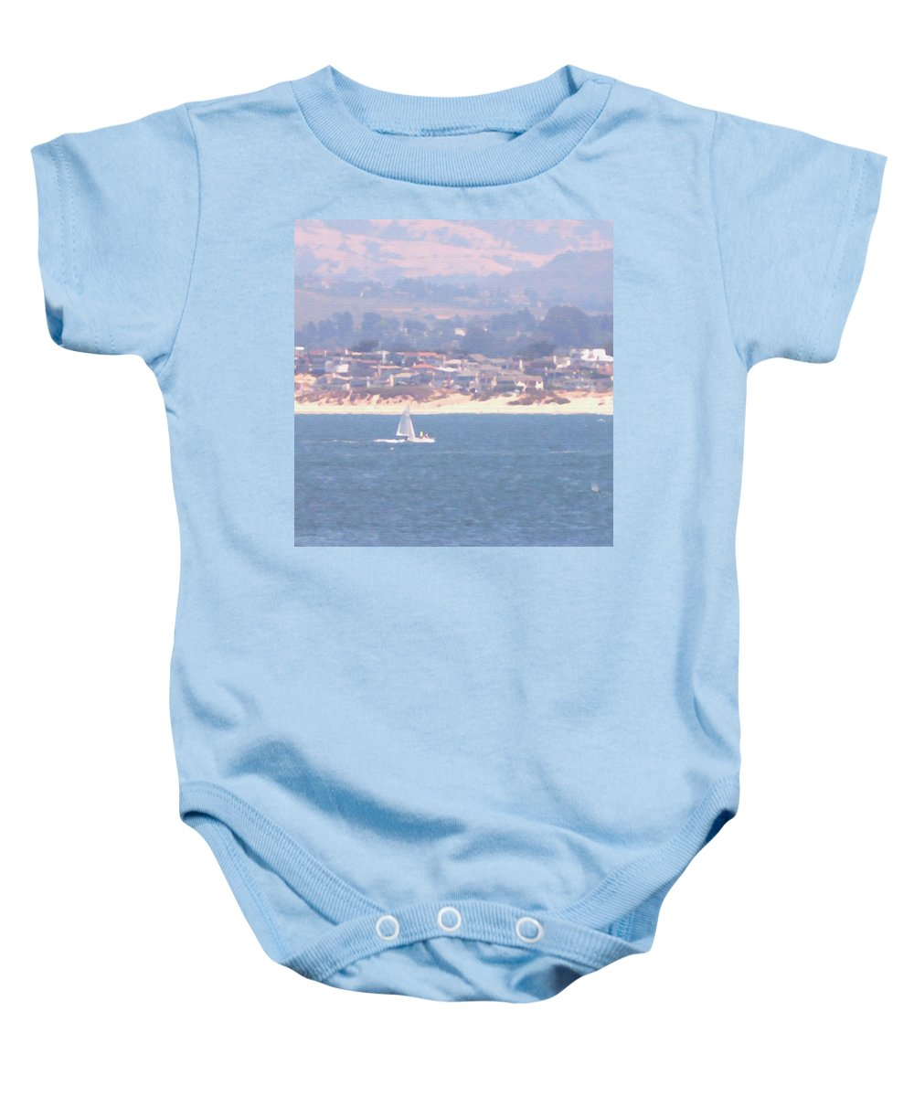 Sailing Baby Onesie featuring the photograph Pastel Sail by Pharris Art
