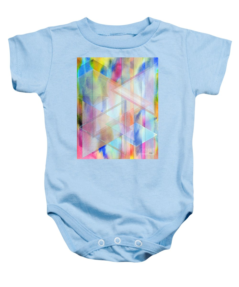 Pastoral Moment Baby Onesie featuring the digital art Pastoral Moment by John Beck