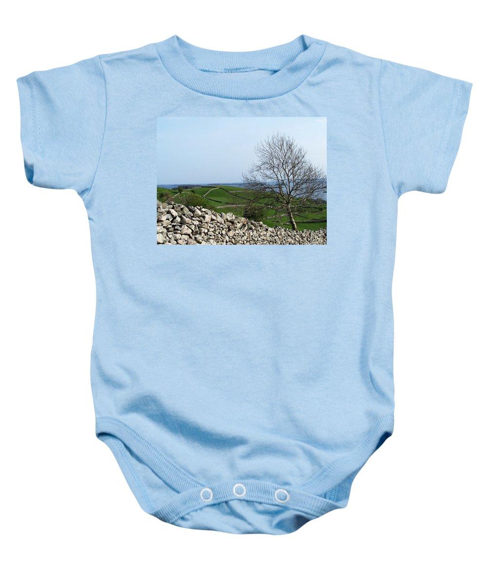 Irish Baby Onesie featuring the photograph Patchwork Quilt Lough Corrib Maam Ireland by Teresa Mucha