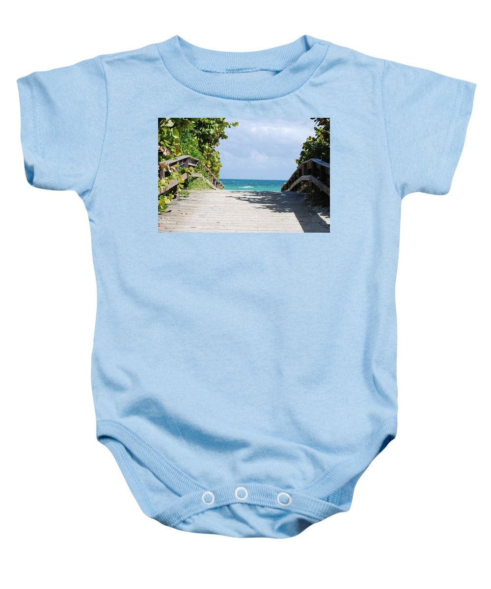 Sea Scape Baby Onesie featuring the photograph Path To Paradise by Rob Hans