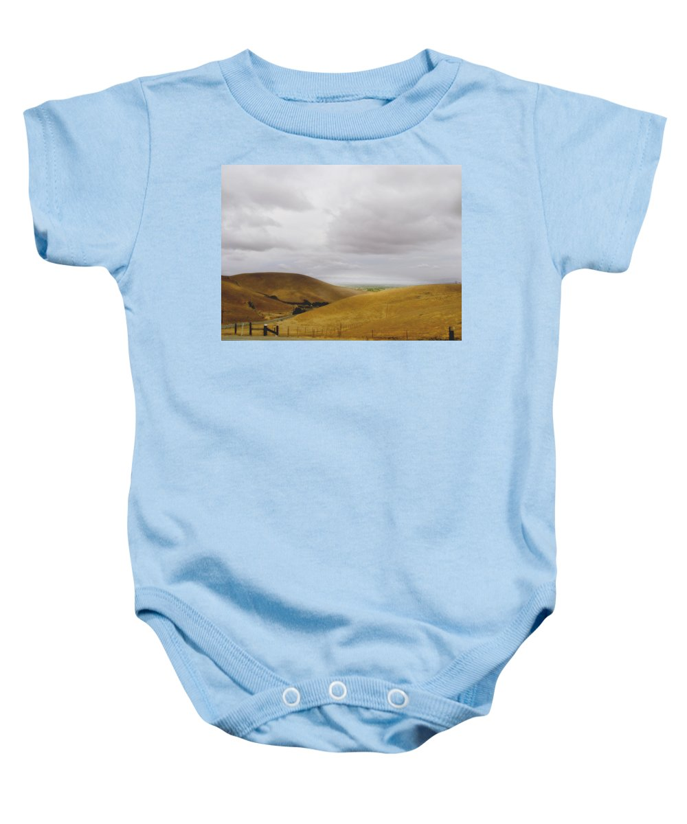 Landscape Baby Onesie featuring the photograph Patterson Pass Road by Karen W Meyer