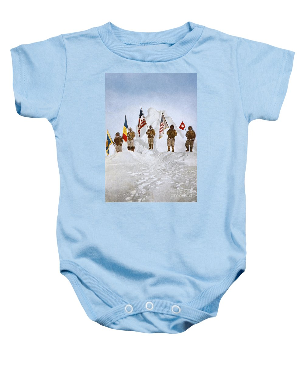 1906 Baby Onesie featuring the painting Peary Expedition, 1906 by Granger