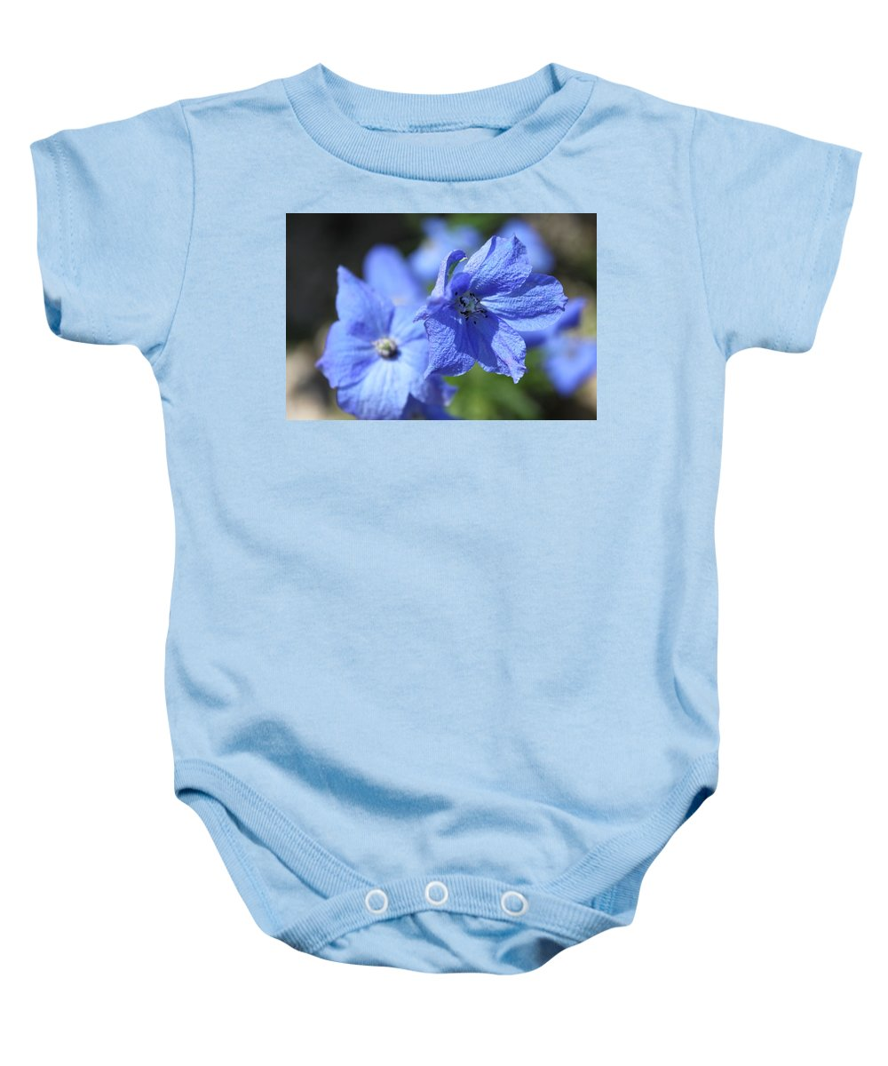 Flower Baby Onesie featuring the photograph Periwinkle Flower by Lauri Novak