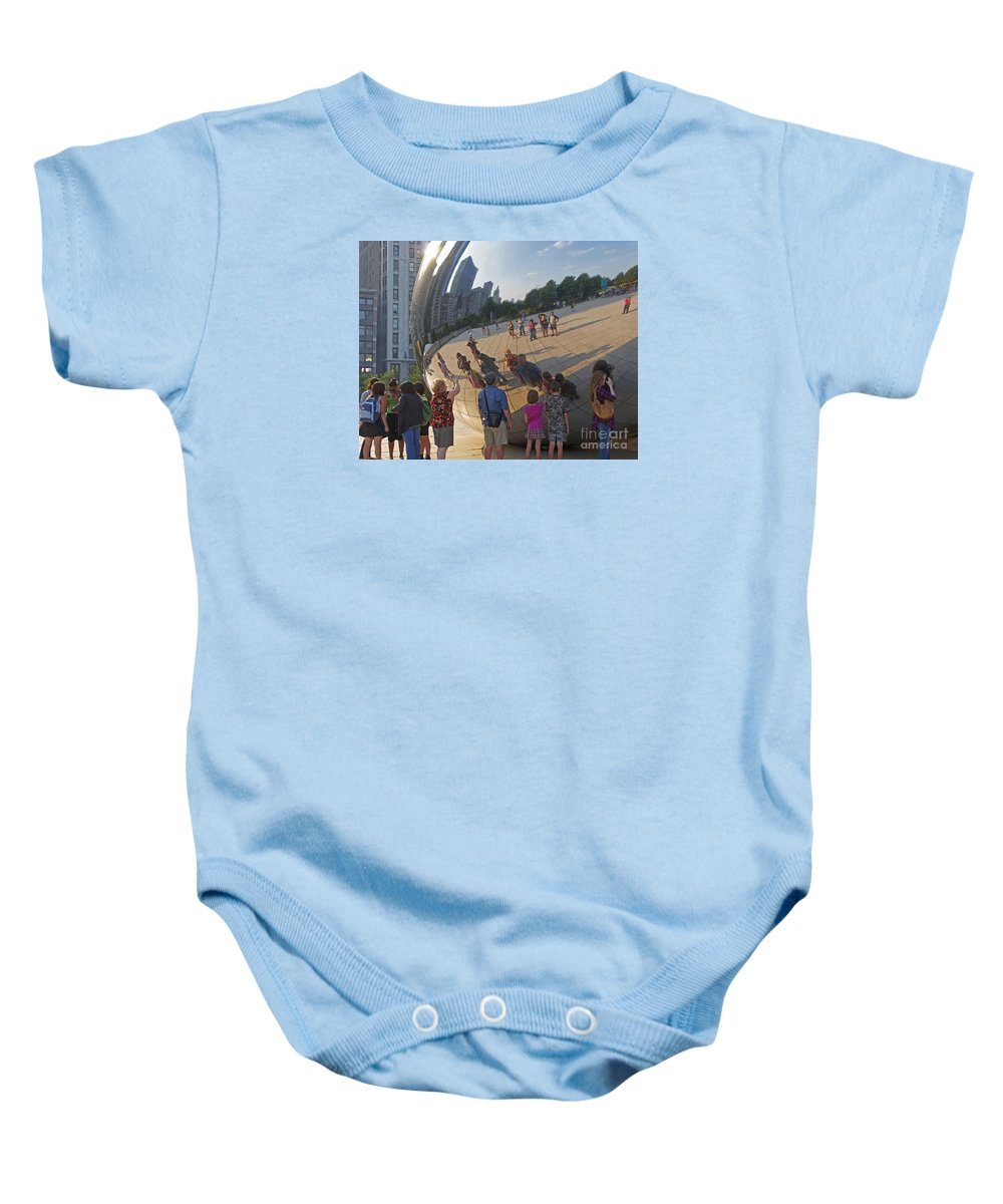 Chicago Baby Onesie featuring the photograph Photographers All by Ann Horn