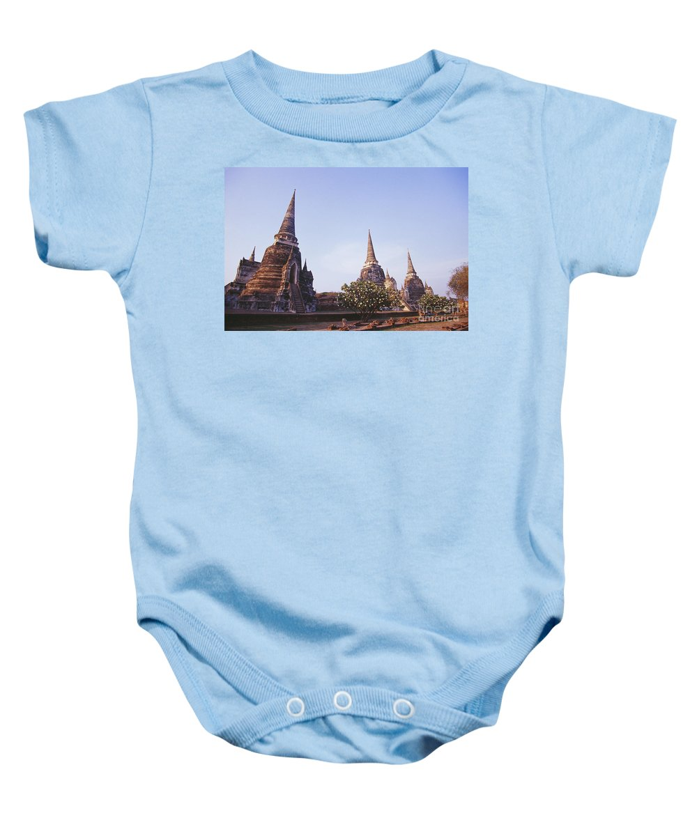 15th Baby Onesie featuring the photograph Phra Si Sanphet by Bill Brennan - Printscapes