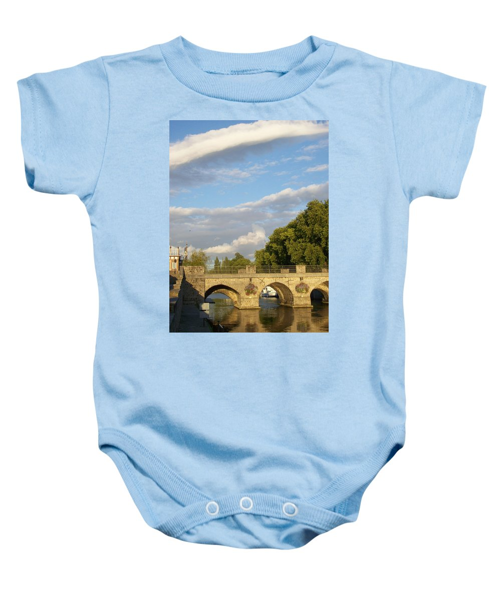 Picturesque Baby Onesie featuring the photograph Picturesque by Mary Mikawoz