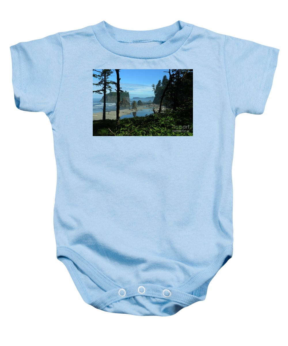Beach Baby Onesie featuring the photograph Picturesque Ruby Beach View by Christiane Schulze Art And Photography