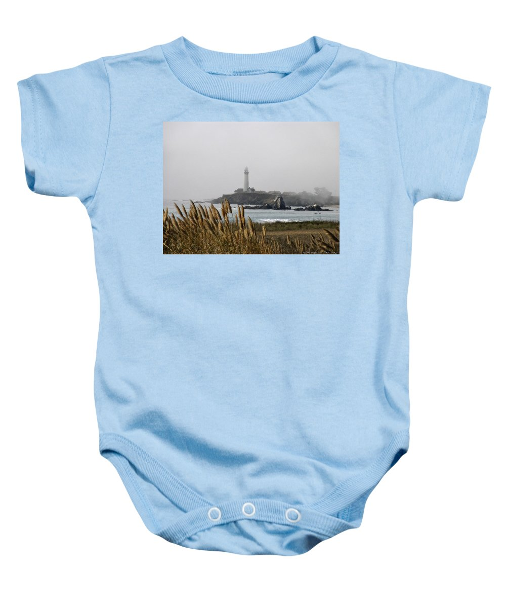 Landscape Baby Onesie featuring the photograph Piegeon Point Lighthouse by Karen W Meyer