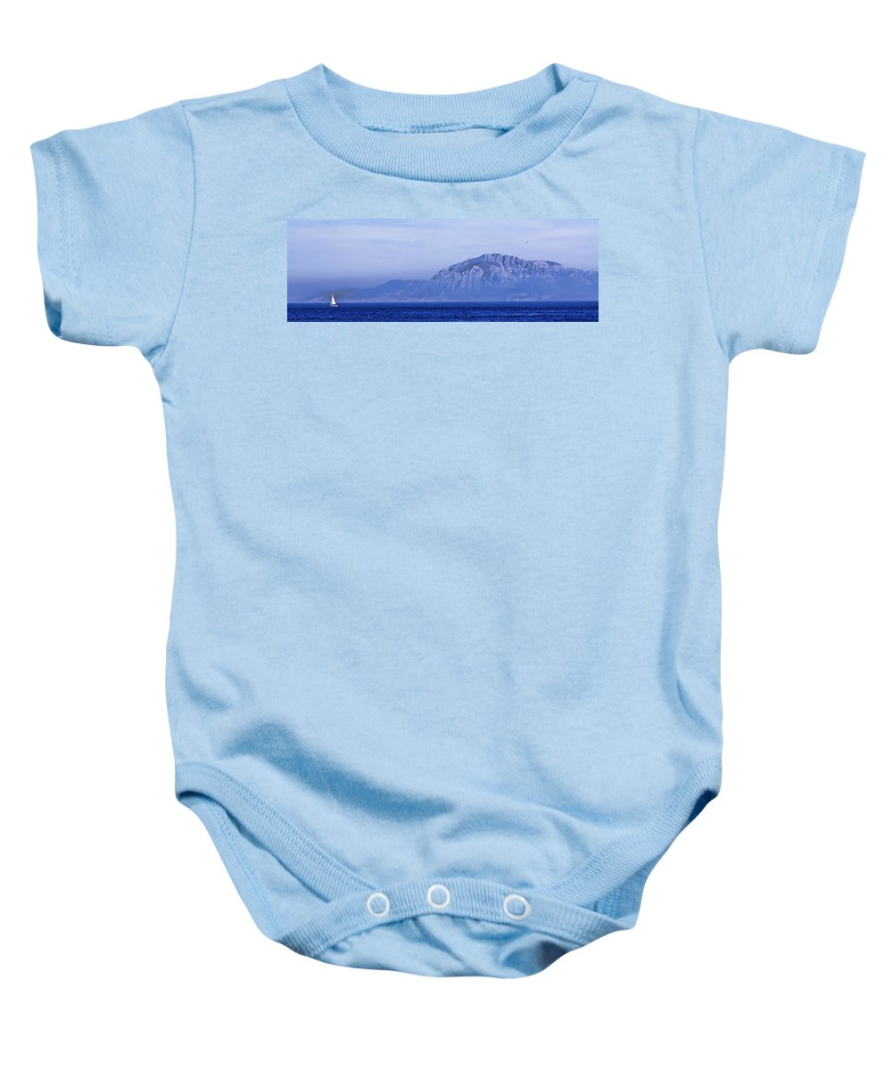 Atlas Mountains Baby Onesie featuring the photograph Pilars Of Hercules by Donovan Torres