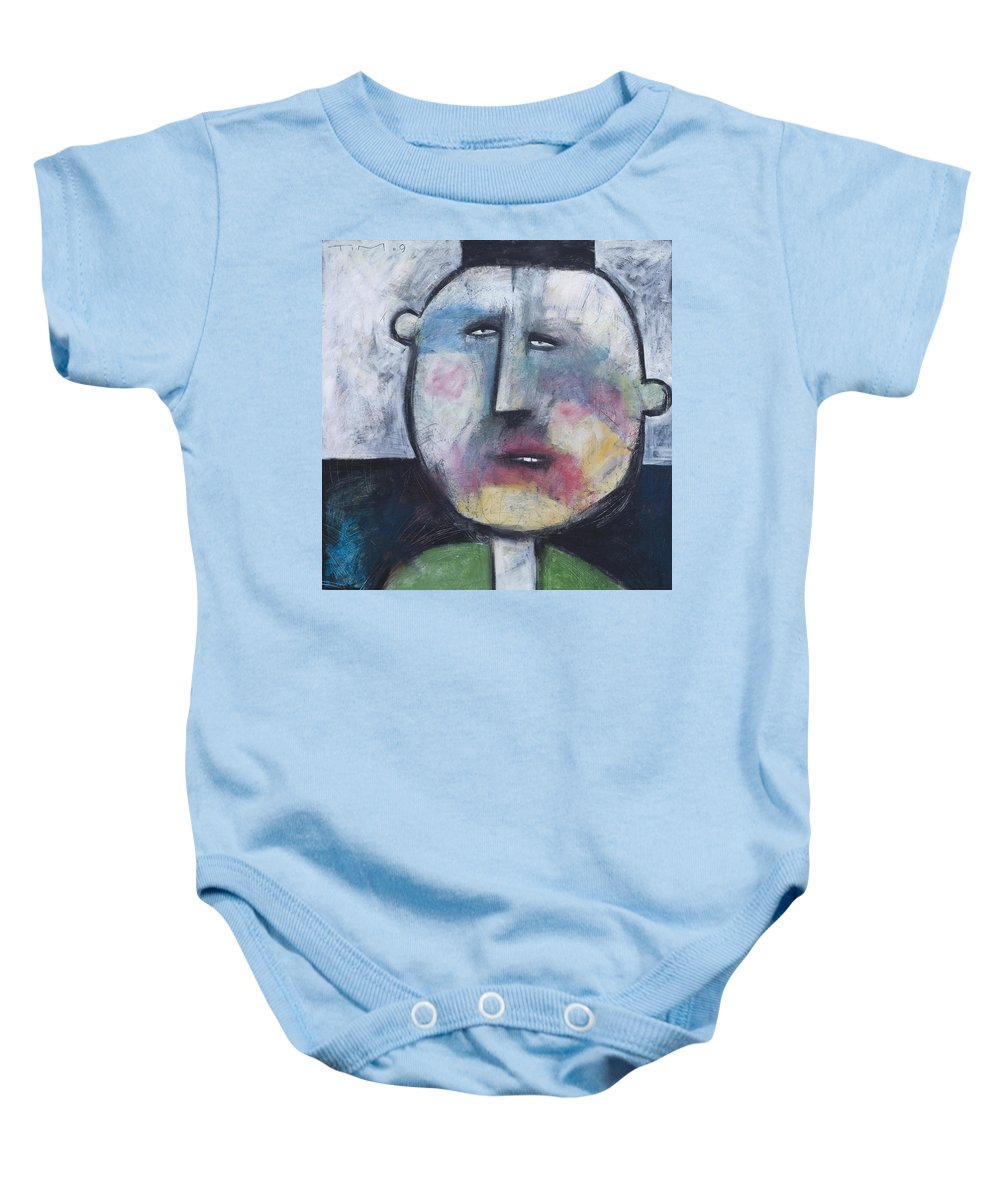 Funny Baby Onesie featuring the painting Pillbox by Tim Nyberg