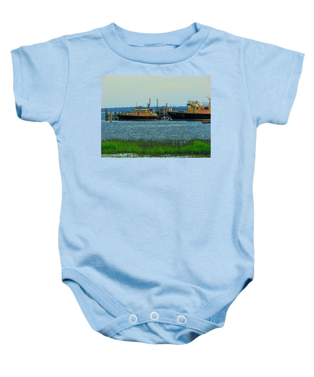 Charleston Baby Onesie featuring the photograph Pilot by Rodney Lee Williams