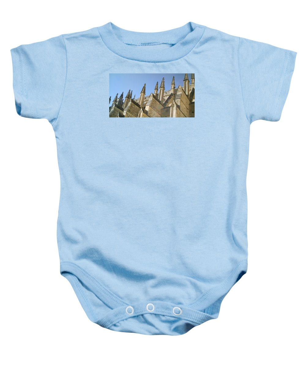 Cathedral Baby Onesie featuring the photograph Pinnacles by Richard Brookes