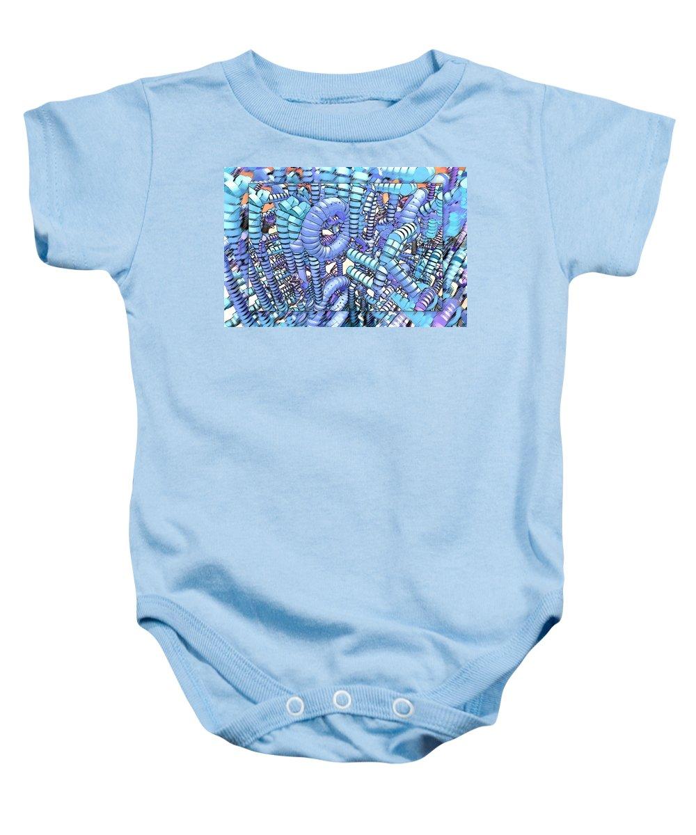 Modern Baby Onesie featuring the digital art Plastique by Douglas Barnard