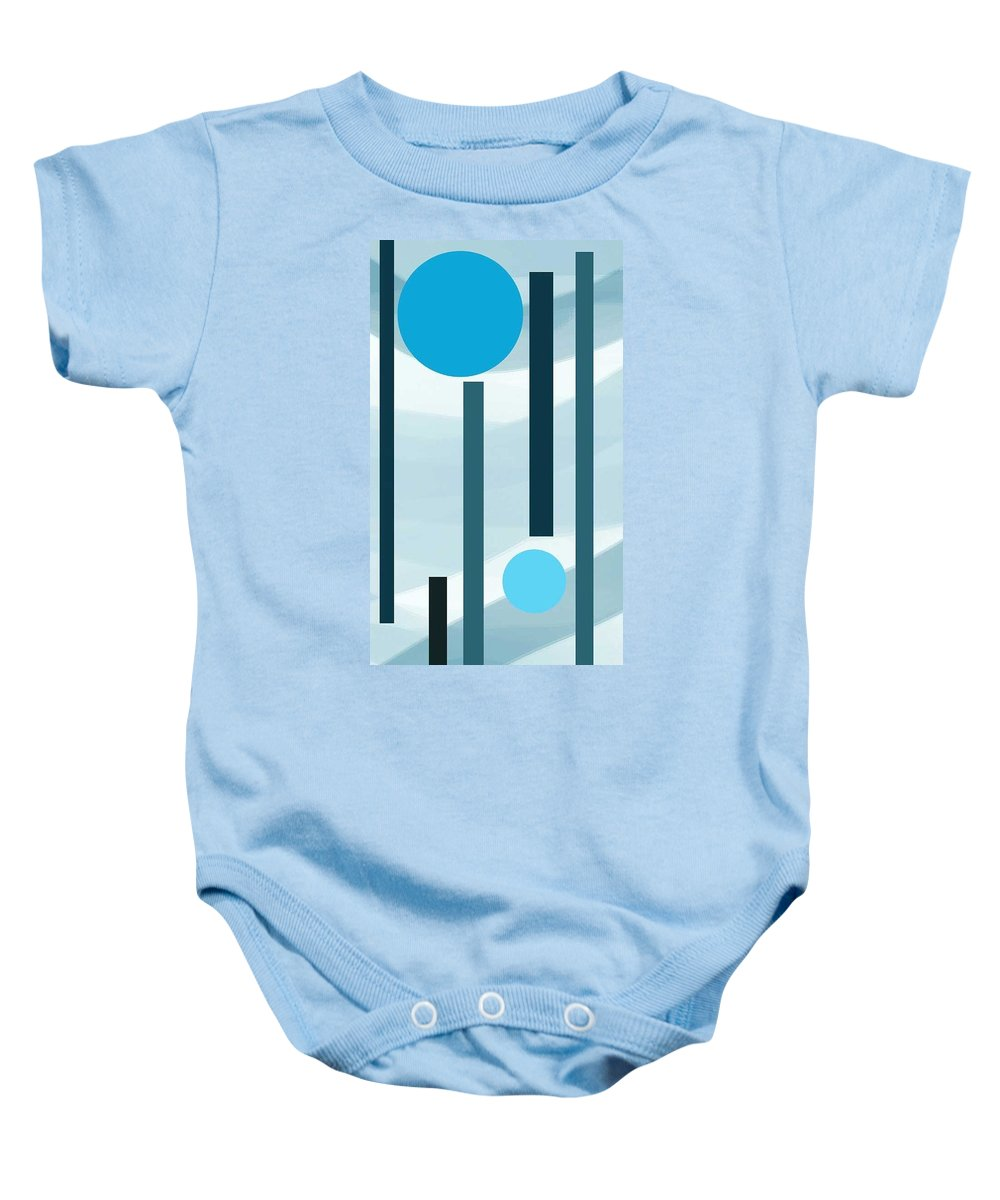 Baby Onesie featuring the digital art Playground by Yilmar Henry