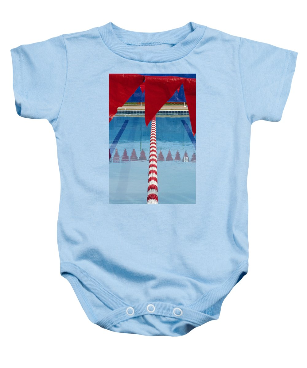 Flag Baby Onesie featuring the photograph Pool by Skip Hunt