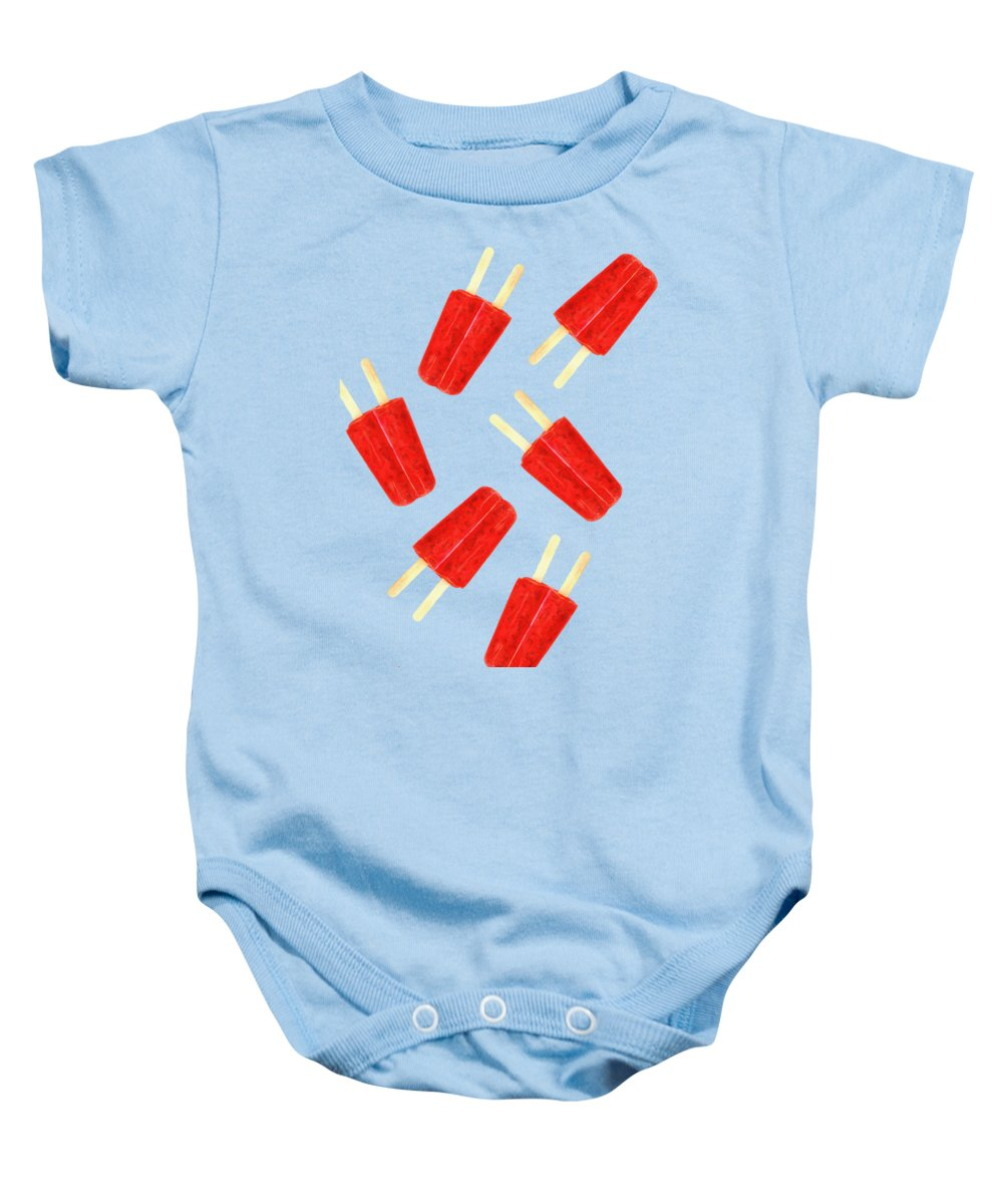 Popsicle Baby Onesie featuring the photograph Popsicle T-shirt by Edward Fielding