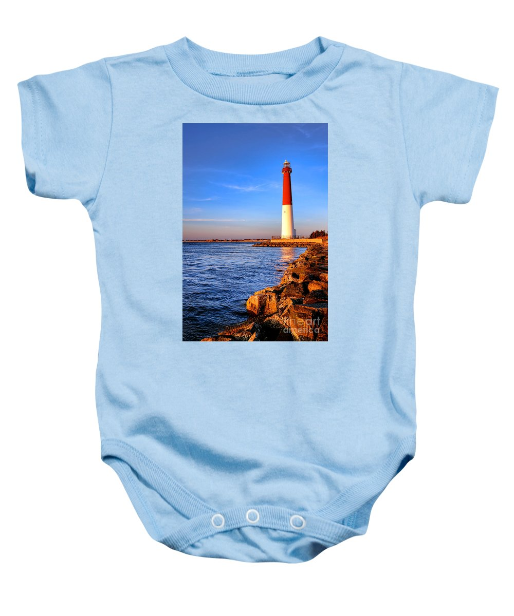 New Baby Onesie featuring the photograph Postcard From Barnegat by Olivier Le Queinec