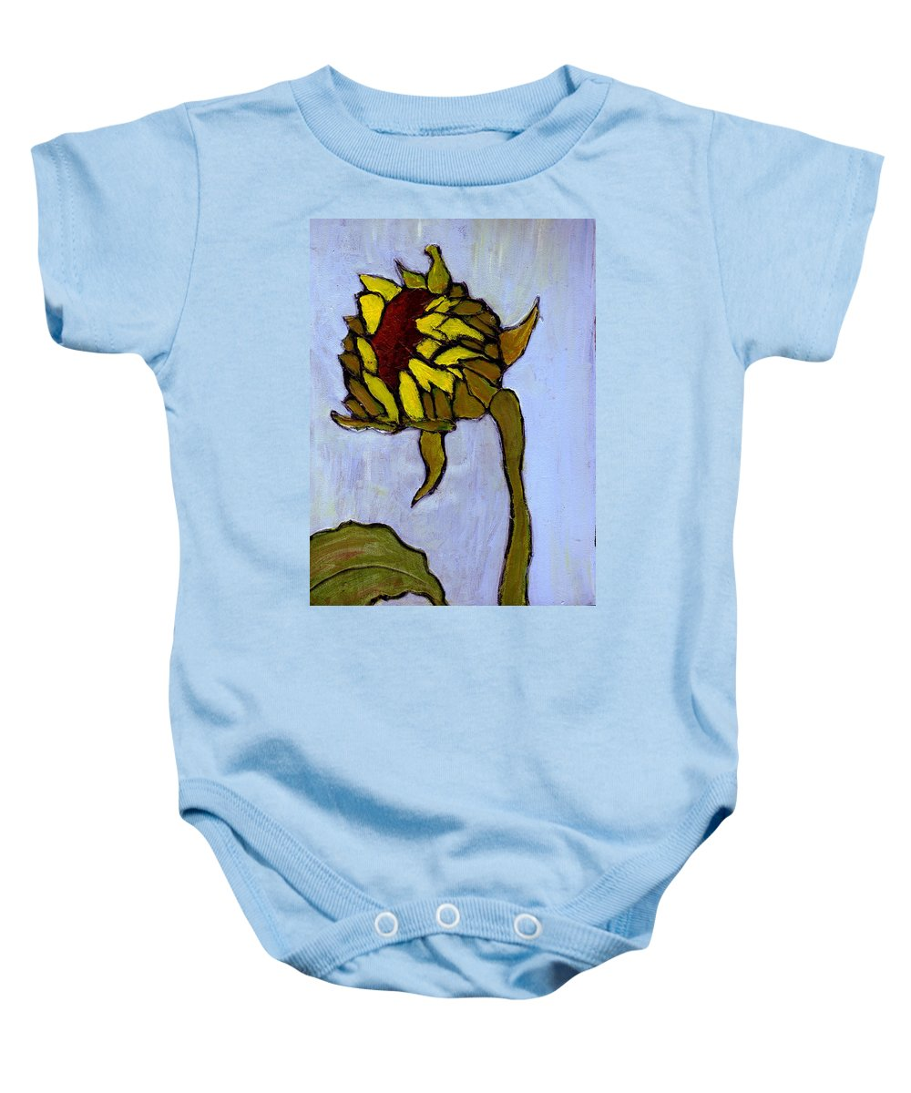 Sunflower Baby Onesie featuring the painting Potential by Wayne Potrafka