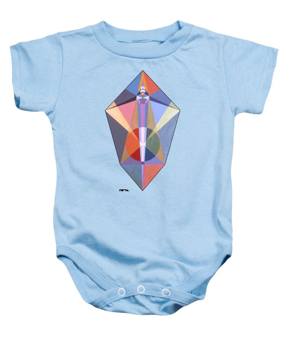 Painting Baby Onesie featuring the painting Power text by Michael Bellon