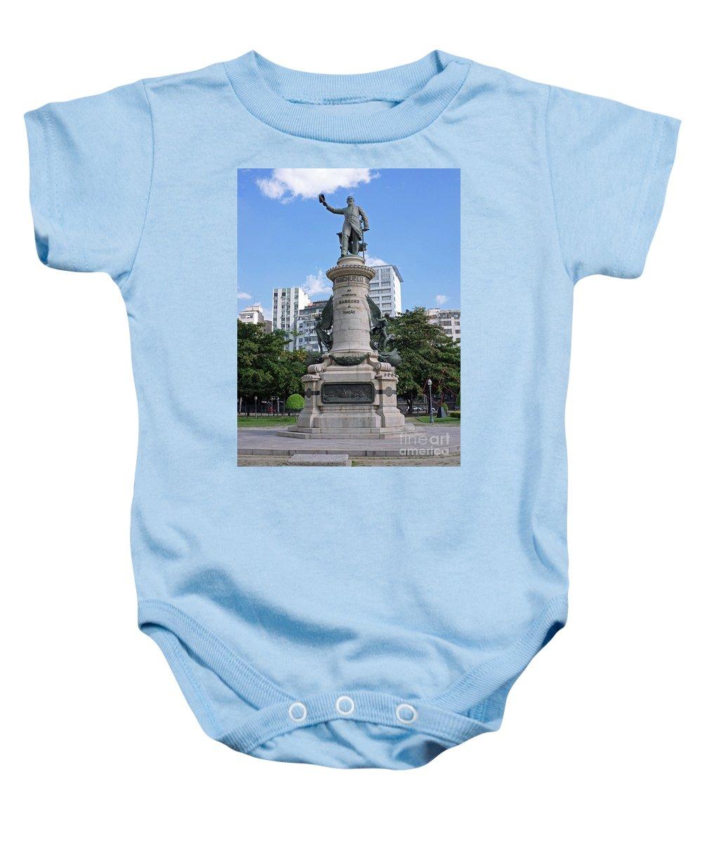 Praca Paris Baby Onesie featuring the photograph Praca Paris In Rio De Janeiro by Ralf Broskvar