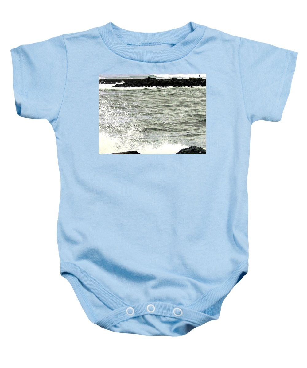 Stormy Baby Onesie featuring the photograph Precarious by Will Borden